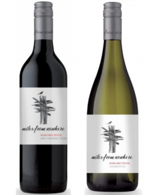 Miles From Nowhere Estate Chardonnay and Cabernet Merlot - Bundle of 2