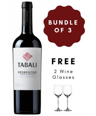 Red Wine Bundle of 3 Tabali Pedregoso Reserva Cabernet Sauvignon 2018