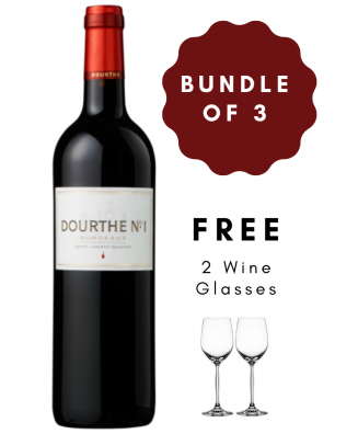 Red Wine Bundle of 3 Dourthe N°1 Red 2018