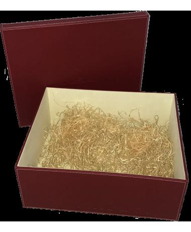 Burgundy Leather Box