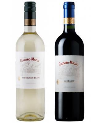Cousino Macul Varietals Merlot + Varietals Sauvignon Blanc  - Bundle of 2