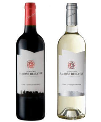 Chateau La Rose Bellevue Red Wine + White Wine - Bundle of 2