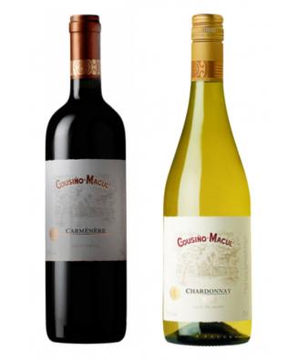Cousino-Macul Varietals Red Carmenere & White Chardonnay - Bundle of 2